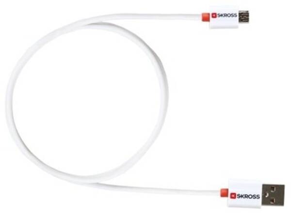 Kabel SKROSS USB/micro USB, 1m bílá barva