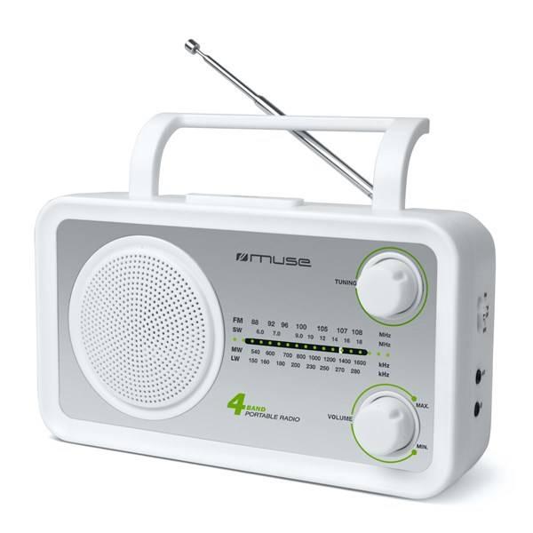 Rádioprijímač MUSE M-05 strieborný/biely