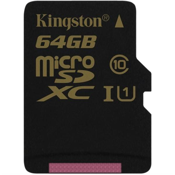 Paměťová karta Kingston MicroSDXC 64GB UHS-I U1 (90R/45W) (SDCA10/64GBSP)