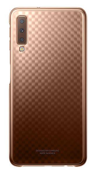 Kryt na mobil Samsung Gradation cover pro A7 (2018) (EF-AA750CFEGWW) zlatý