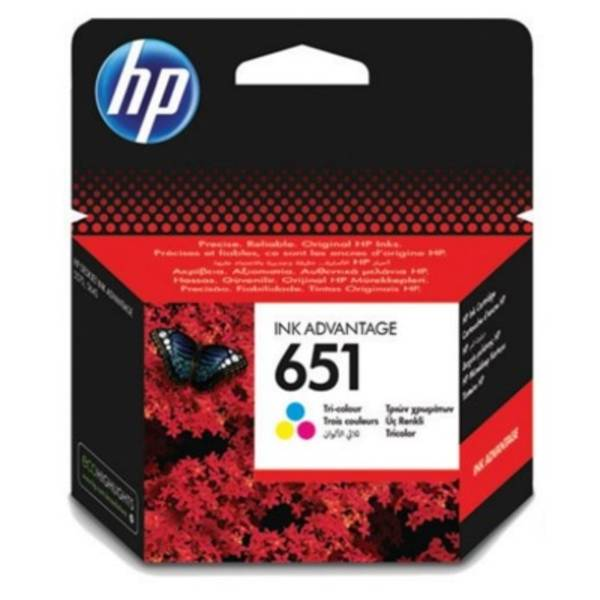 Inkoustová náplň HP 651, 300 stran, CMY (C2P11AE)