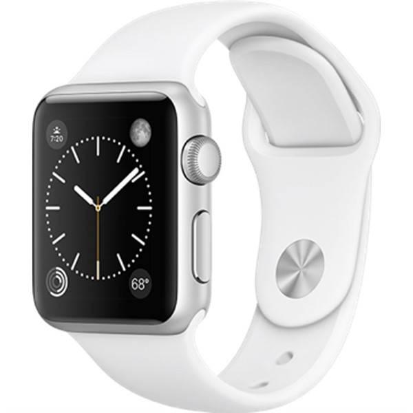 Chytré hodinky Apple Watch Series 2 38mm pouzdro ze stříbrného hliníku – bílý sportovní řemínek (MNNW2CN/A)