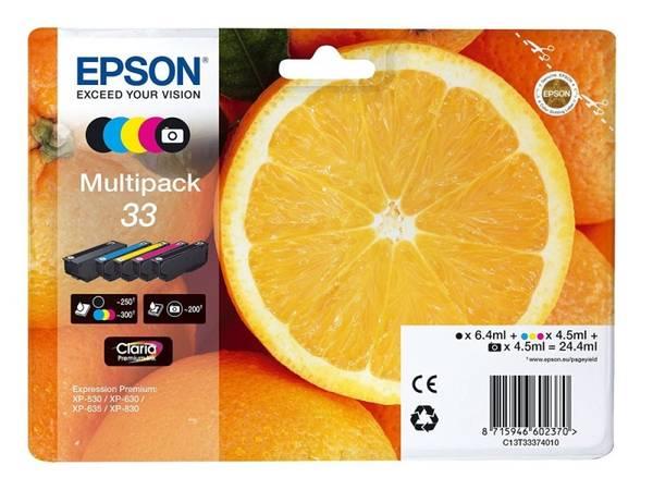 Cartridge Epson Claria Premium T33, CMYK (C13T33374011)