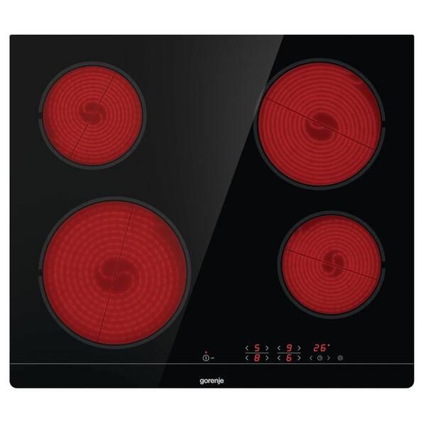 Sklokeramická varná deska Gorenje Essential CT41SC černá barva (vrácené zboží 8800315743)