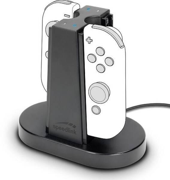 Dokovací stanice Speed Link Quad pro Nintendo Switch Joycon (SL-330003-BK) černý