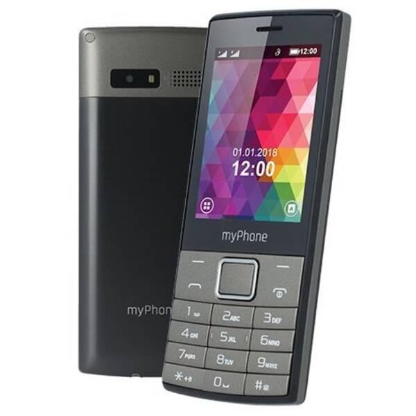Mobilní telefon myPhone 7300 Dual SIM (TELMY7300GR) černý/stříbrný (vrácené zboží 8800167228)