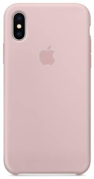 Kryt na mobil Apple Silicone Case pro iPhone X - pískově růžový (MQT62ZM/A)