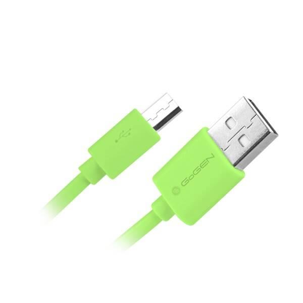Kabel GoGEN USB/micro USB, 0,9m (MICUSB 100 MM14) zelená barva