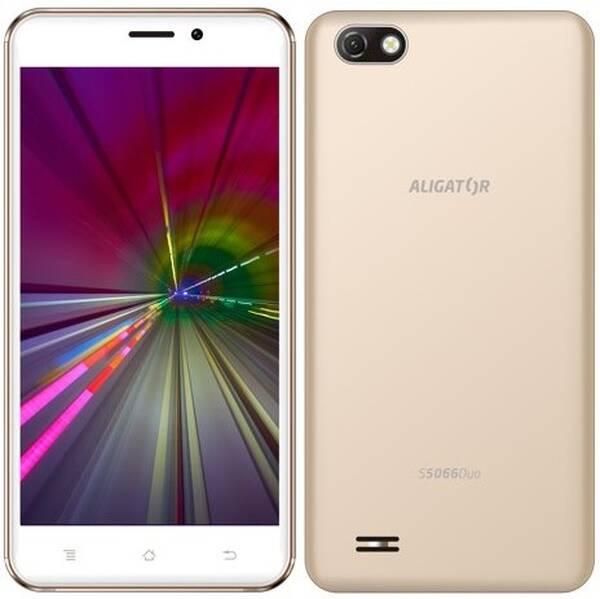Mobilní telefon Aligator S5066 (AS5066GD) zlatý