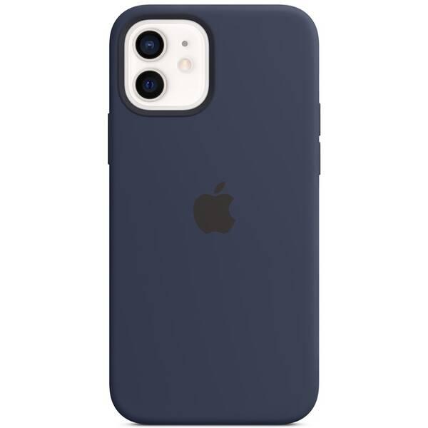 Kryt na mobil Apple Silicone Case s MagSafe pre iPhone 12 a 12 Pro - námornícky tmavomodrý (MHL43ZM/A)