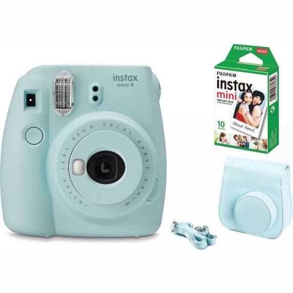 Digitální fotoaparát Fujifilm Instax mini 9 + pouzdro BIG BOX modrý