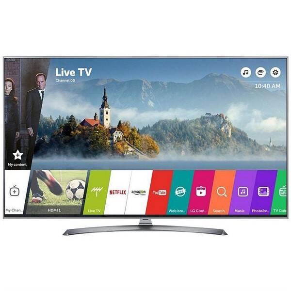 Televízor LG 55UJ7507 strieborná/Titanium