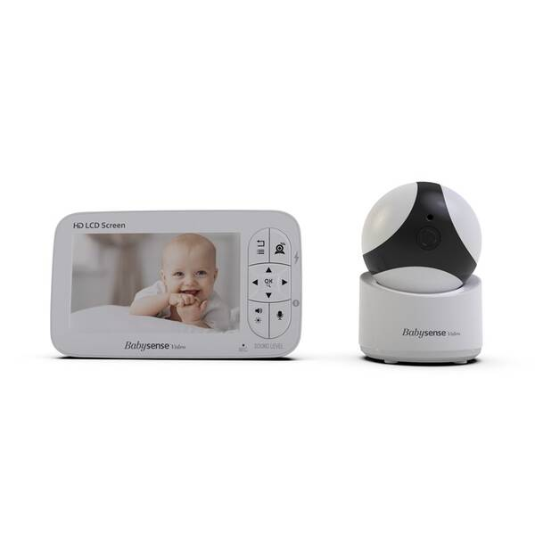 Detská elektronická pestúnka Babysense Video Baby Monitor V65 biela