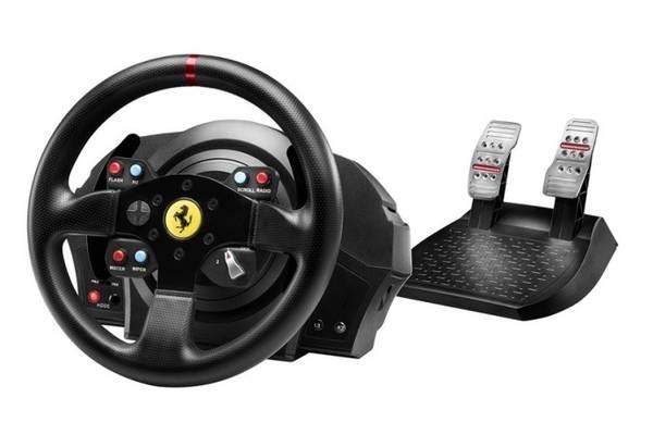 Volant Thrustmaster T300 Ferrari GTE pro PS3, PS4, PC + pedály (4160609) čierny
