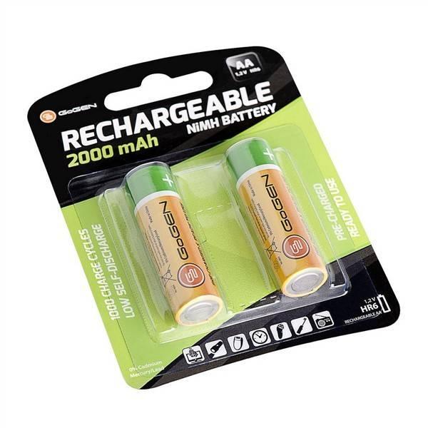 Baterie nabíjecí GoGEN AA, HR06, 2000mAh, Ni-MH, blistr 2ks (GOGR06CHARGE2000)