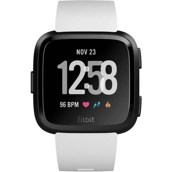 Chytré hodinky Fitbit Versa (NFC) - White Band / Black Case (FB505GMWT-EU)