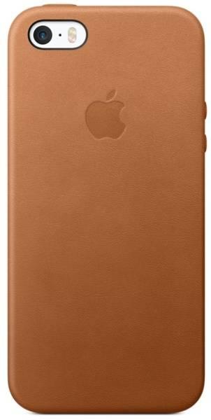 Kryt na mobil Apple Leather Case pro iPhone 5/5s/SE - sedlově hnědý (mnyw2zm/a)