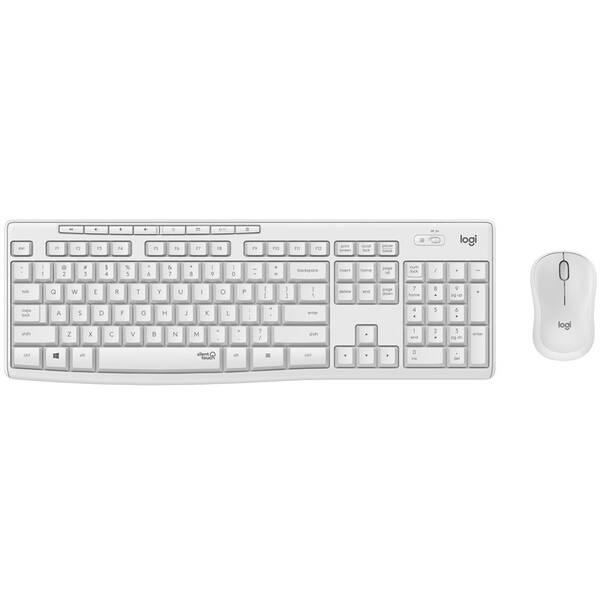 Klávesnica s myšou Logitech Wireless Combo MK295 Silent, US (920-009824) biela