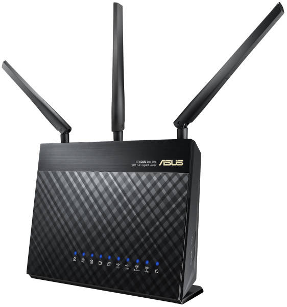 Router Asus RT-AC68U - AC1900 dvoupásmový Wi-Fi AiMesh (90IG00C0-BM3010)