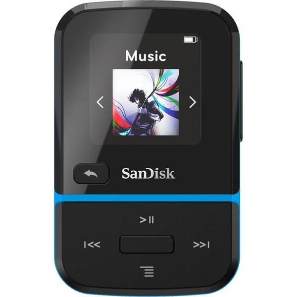 MP3 prehrávač SanDisk Clip Sport Go2 32GB (SDMX30-032G-E46B) čierny/modrý