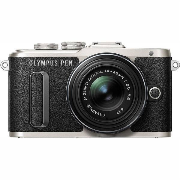 Digitální fotoaparát Olympus E-PL8 + 14-42 Kit (V205081BE000) černý/stříbrný