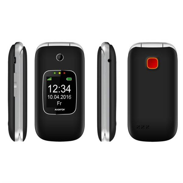 Mobilní telefon Aligator V650 Senior (AV650BS) černý/stříbrný (vrácené zboží 8800126486)