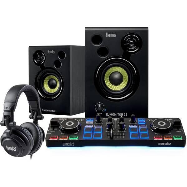 Mixážní pult Hercules Starter Kit se Serato DJ Lite, SET černý