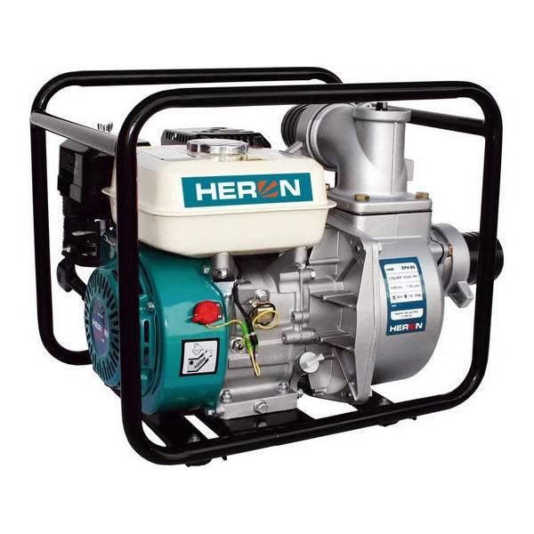 Motorové čerpadlo HERON EPH 80 proudové 6,5 HP, EPH 80 modré/zelené