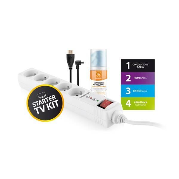 Přepěťová ochrana GoGEN TV STARTER KIT 1 (TVSTARTERKIT1) bílá