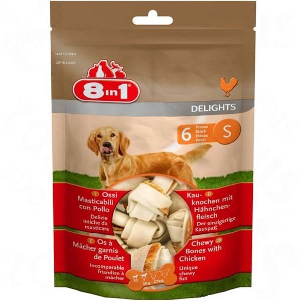 Pochúťka 8 in 1 Kost žvýkací Delights S bag 6ks