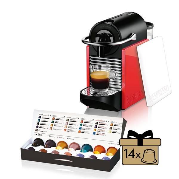 Espresso DeLonghi Nespresso Pixie Clips EN126 bílé/červené (Náhradní obal / Silně deformovaný obal 8800283768)