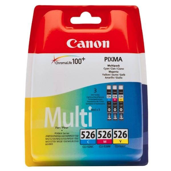 Cartridge Canon CLI-526 C/M/Y, 340 stran - originální (4541B006) červená/modrá/žltá