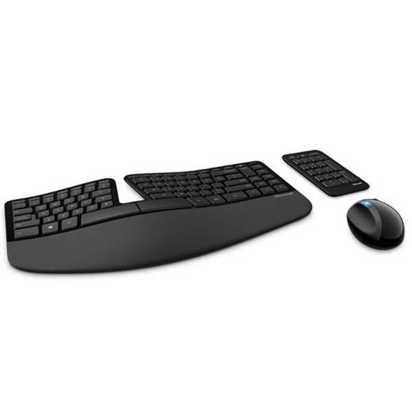Klávesnice s myší Microsoft Sculpt Ergonomic CZ/SK (L5V-00019) černá