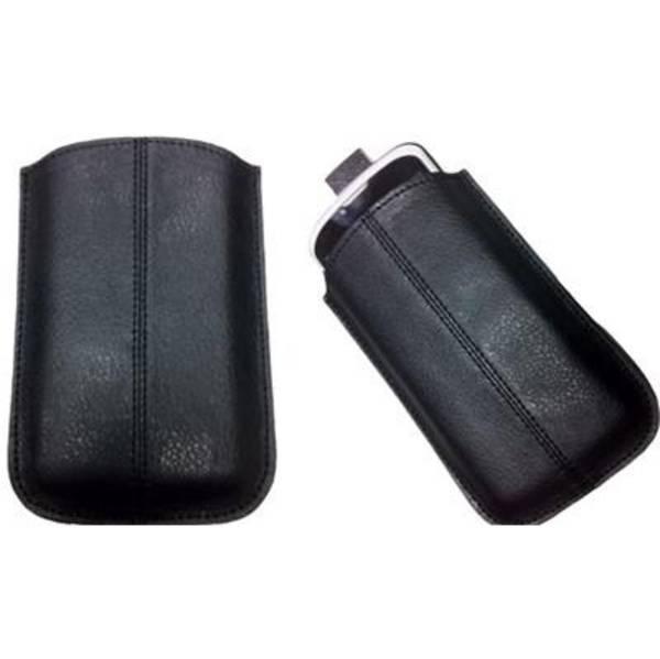 Púzdro na mobil Gigabyte na GSmart G131x, kožené (PDPAV6612) čierne
