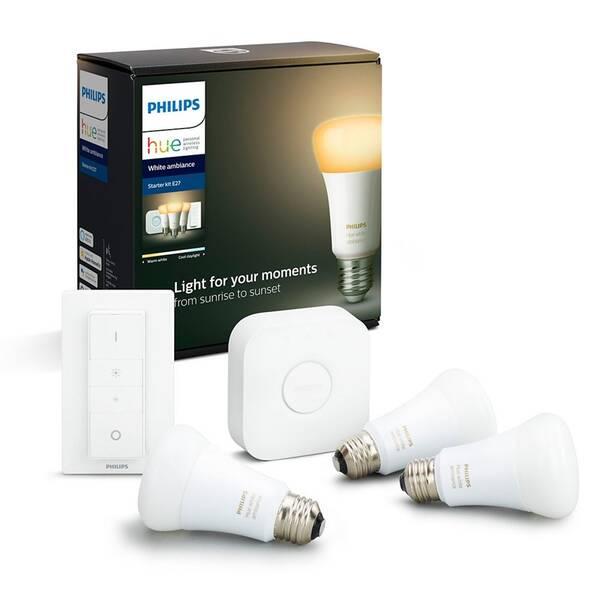 Startovací sada Philips Hue Bluetooth 9W, E27, White Ambiance + Switch, Bridge (8718699673345)