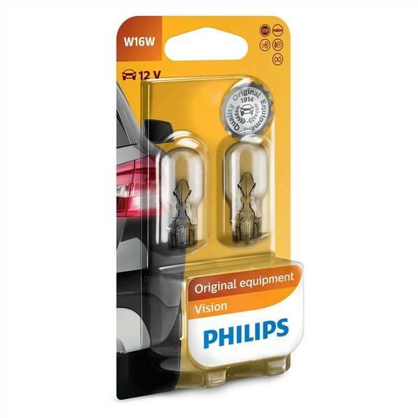 Autožárovka Philips Vision W16W, 2ks (12067B2)