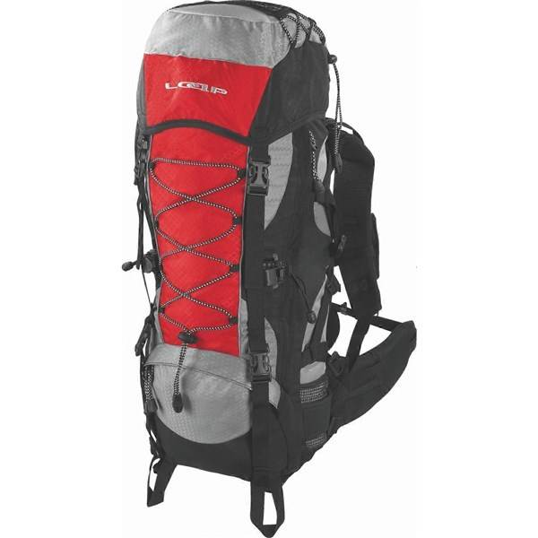 Batoh turistický Loap Eiger 50+10 l sivý/červený