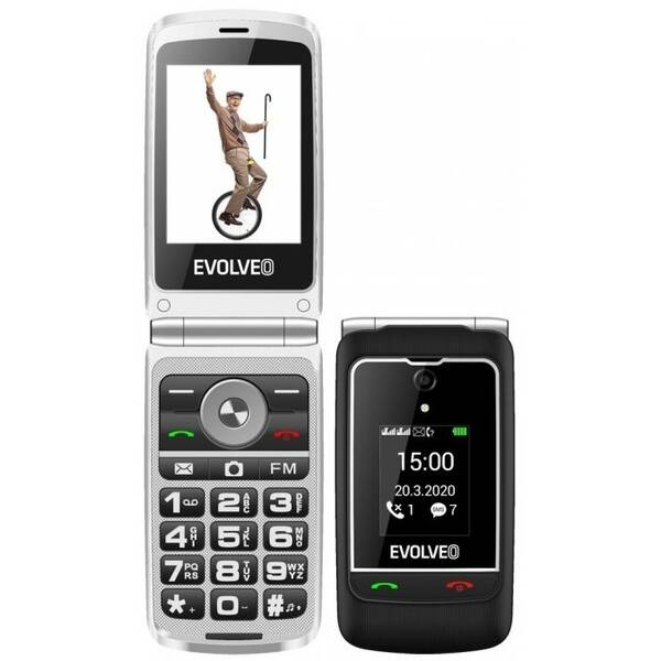 Mobilný telefón Evolveo EasyPhone FG (EP-750-FGB) čierny