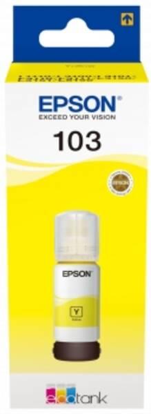 Inkoustová náplň Epson EcoTank 103, 65 ml (C13T00S44A) žlutá