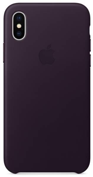 Kryt na mobil Apple Leather Case pro iPhone X - lilkově fialový (MQTG2ZM/A)