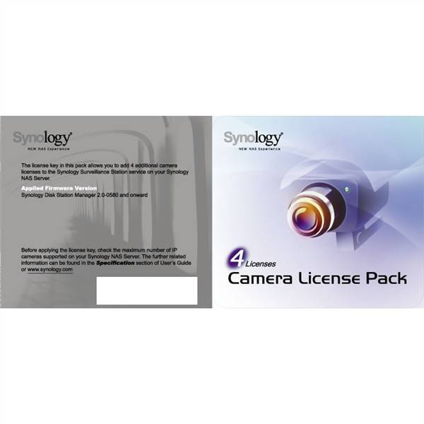 Software Synology License Pack x 4 (License Pack 4)