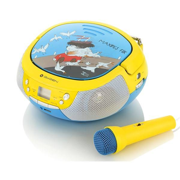 Radiopřijímač s CD GoGEN Maxipes Fík MAXIPREHRAVAC B modrý/žlutý (vrácené zboží 8800358838)