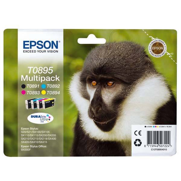 Inkoustová náplň Epson T0895, 5,8ml, CMYK (C13T08954010)