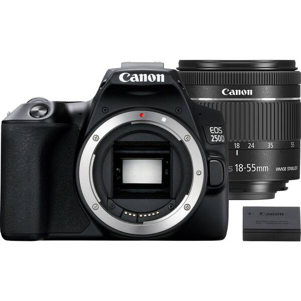 Digitální fotoaparát Canon EOS 250D + 18-55 IS STM + akumulátor LP-E17 (3454C022) černý