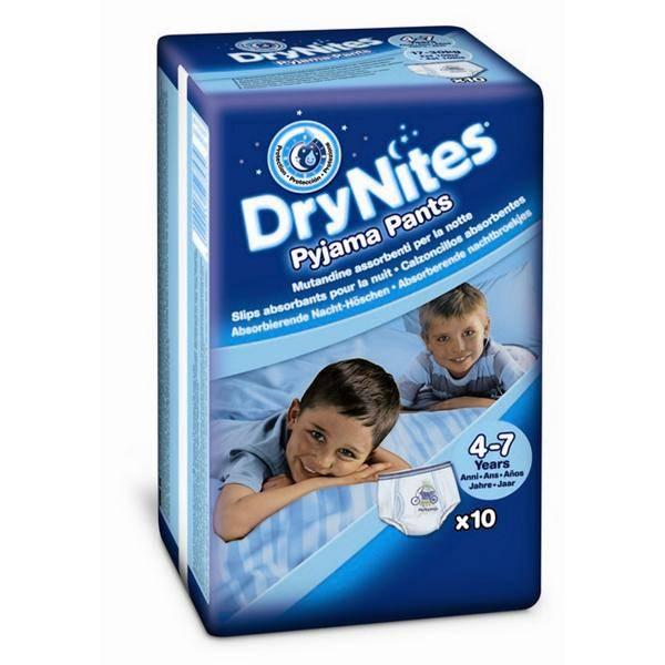 Plenkové kalhotky Huggies Dry Nites Medium - Boys 17-30 kg, 10 ks