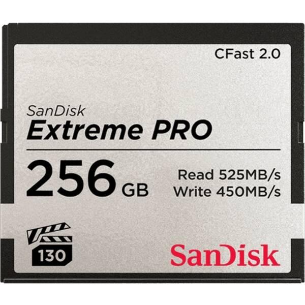 Paměťová karta Sandisk Extreme Pro CFast 2.0 256 GB (525R/450W) (SDCFSP-256G-G46D)