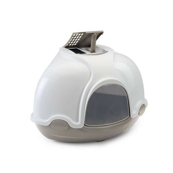 Toaleta Argi rohová s filtrem šedá - 52 x 52 x 44,5 cm
