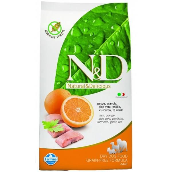 Granule N&D Grain Free DOG Adult Fish & Orange 12 kg