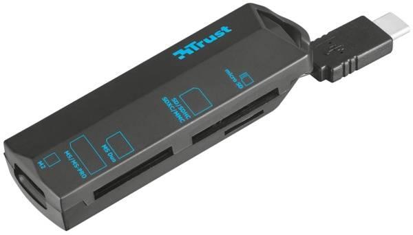 Čítačka pamäťových kariet Trust USB-C (20968) čierna