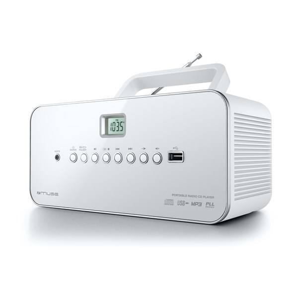 Radiopřijímač s CD MUSE M-28 RDW bílý